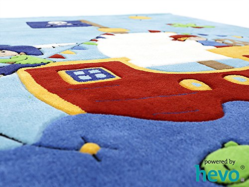 Captain Jack HEVO® Handtuft Teppich | Kinderteppich | Spielteppich | Oeko Tex 100 150x220 cm - 4
