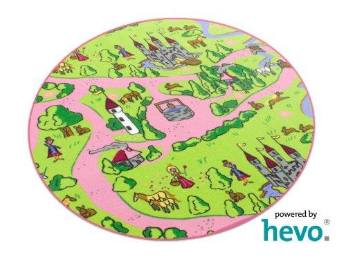Märchenland HEVO® Mädchen Teppich | Spielteppich | Kinderteppich 200 cm Ø Rund Oeko-Tex 100 - 2