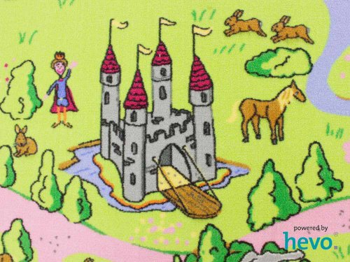 Märchenland HEVO® Mädchen Teppich | Spielteppich | Kinderteppich 125x195 cm Ellipse Oeko-Tex 100 - 6