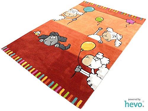 Ballon rot HEVO® Handtuft Teppich | Kinderteppich | Spielteppich 160x230 cm Öko Tex 100