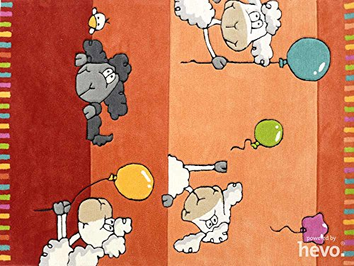 Ballon rot HEVO® Handtuft Teppich | Kinderteppich | Spielteppich 160x230 cm Öko Tex 100 - 2