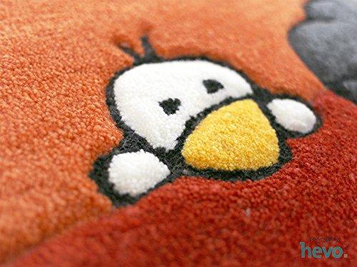 Ballon rot HEVO® Handtuft Teppich | Kinderteppich | Spielteppich 160x230 cm Öko Tex 100 - 3