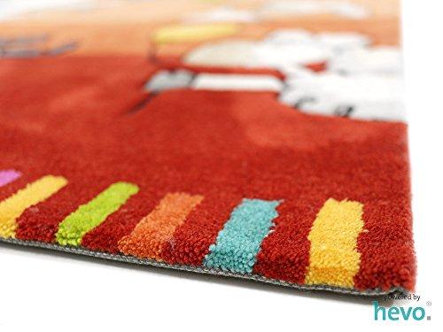 Ballon rot HEVO® Handtuft Teppich | Kinderteppich | Spielteppich 160x230 cm Öko Tex 100 - 5