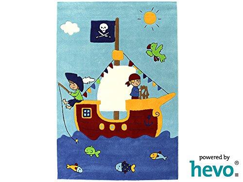 Captain Jack HEVO® Handtuft Teppich | Kinderteppich | Spielteppich | Oeko Tex 100 110x170 cm - 2