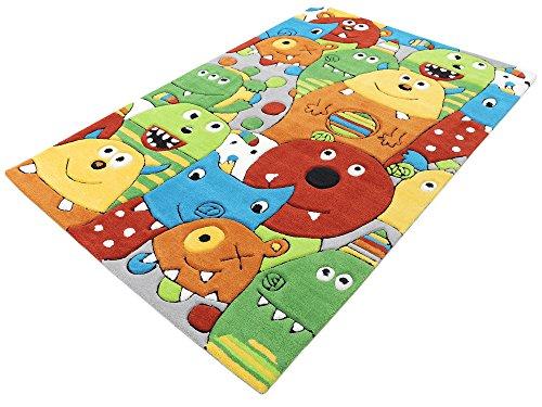Monsters HEVO® Handtuft Teppich | Kinderteppich | Spielteppich 110x170 cm Textiles Vertrauen Oeko Tex 100