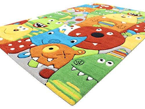 Monsters HEVO® Handtuft Teppich | Kinderteppich | Spielteppich 110x170 cm Textiles Vertrauen Oeko Tex 100 - 7