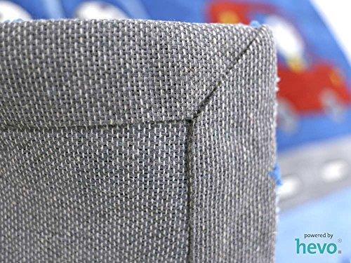 Funny Bus blau HEVO® Handtuft Teppich | Kinderteppich | Spielteppich 140x200 cm Öko Tex 100 - 6