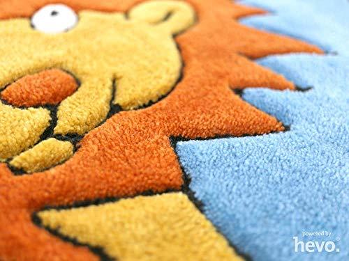 HEVO Dschungel blau Handtuft Kinderteppich | 150x220 cm | Spielteppich 3694-04 - 3