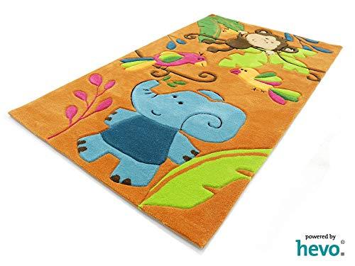 HEVO Bernadette Orange Handtuft Kinderteppich in 90x150 cm