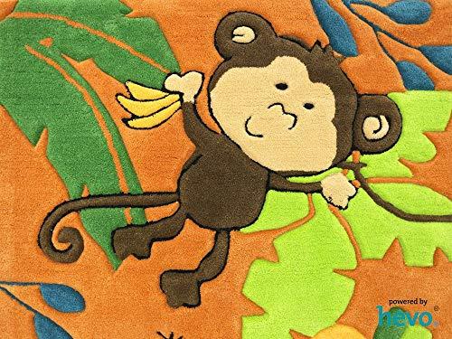 HEVO Bernadette Orange Handtuft Kinderteppich in 90x150 cm - 2