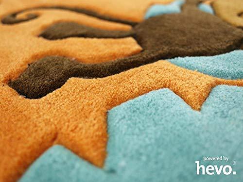 HEVO Bernadette Orange Handtuft Kinderteppich in 90x150 cm - 3