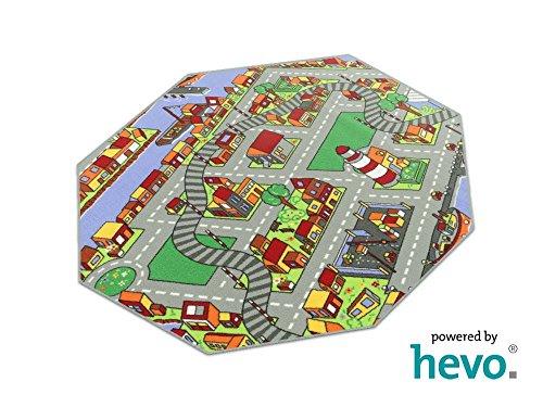 Amsterdam HEVO® Teppich | Spielteppich | Kinderteppich 200 cm Achteck Oeko-Tex 100