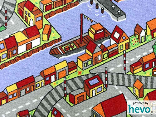 Amsterdam HEVO® Teppich | Spielteppich | Kinderteppich 200 cm Achteck Oeko-Tex 100 - 3