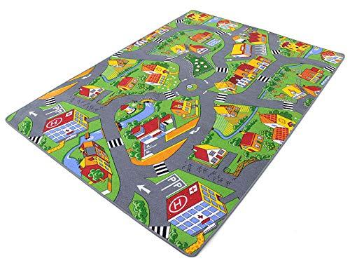 Stadt Land Fluss HEVO® Teppich | Kinderteppich | Spielteppich 145x200 cm