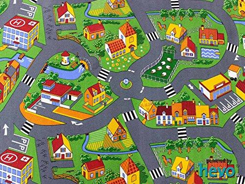 Stadt Land Fluss HEVO® Teppich | Kinderteppich | Spielteppich 145x200 cm - 2