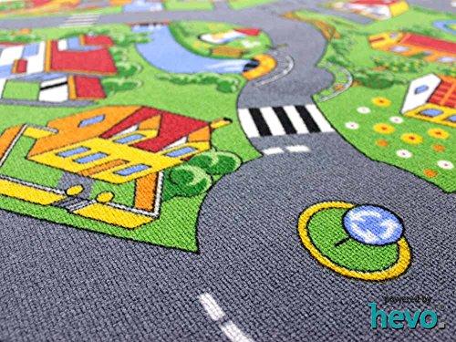 Stadt Land Fluss HEVO® Teppich | Kinderteppich | Spielteppich 145x200 cm - 3