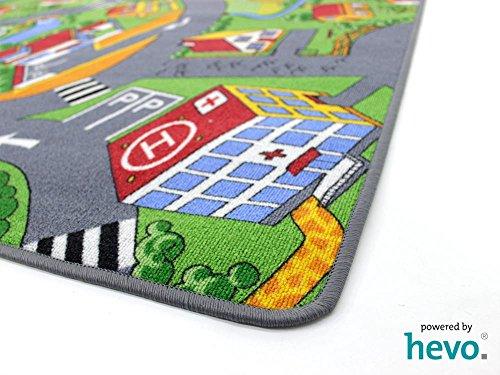 Stadt Land Fluss HEVO® Teppich | Kinderteppich | Spielteppich 145x200 cm - 4
