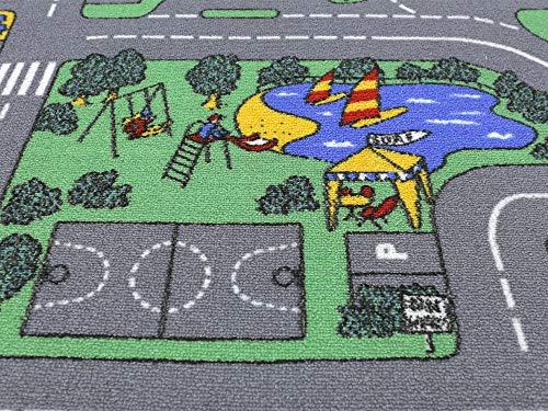 HEVO Auto Teppich Kinder Strassen Spielteppich | Kinderteppich 145×200 cm - 3